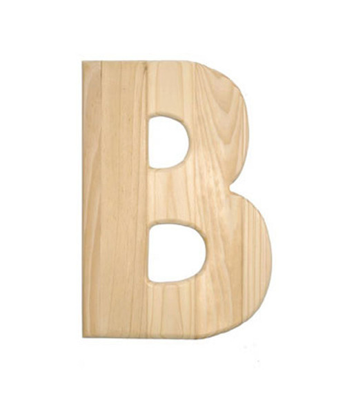 wooden letter unfinished 05 inch between 8 11 inch letter b