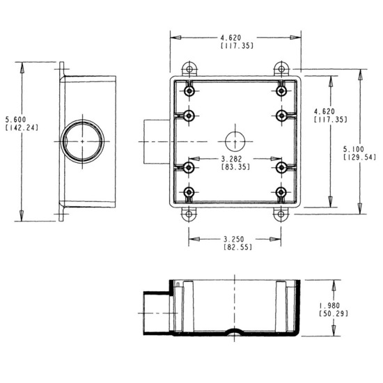 2 Gang Electrical Box Drawing Readingrat Net