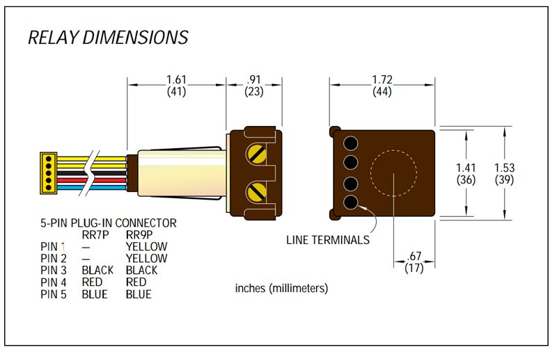 ge rr7 relay wiring diagram ge rr7p - 20a spst low voltage relay