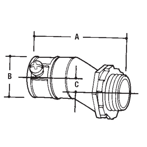 Thomas Amp Betts To222 1 3 4 Inch Offset Connector