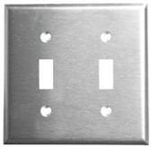 Leviton 84009 - 2-Gang Toggle Device Switch Wallplate