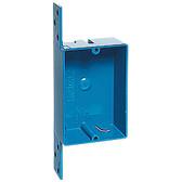 Carlon B108B-UPC - Single Gang Nonmetallic Boxes, 8 CU Inch Bracketed Zip Box