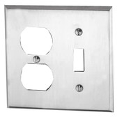 Leviton 84005 - 2-Gang 1-Toggle 1-Duplex Device Combination Wallplate