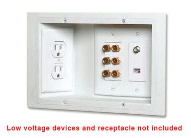 Carlon SC300PRB - Recessed Dual Voltage 3-Gang Old Work Plate