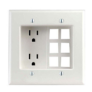 Leviton 690 w residential grade 2 gang recessed duplex receptacle publicscrutiny Image collections