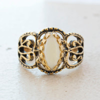 Vintage Genuine Opal Cocktail Ring