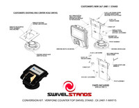 Swivel Stands CONVERSION KIT, LOW CONTOUR STAND, FOR MOUNTING VERIFONE MX915/MX925 ONTO EXISTING CENTER HOLE SWIVEL STAND
