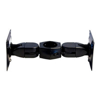 Two Double Pivots Flat Panel Mount Back-to-Back Pole Clamp