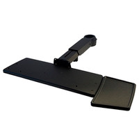 Keyboard Tray with Mouse Tray Telescoping Arm Rotating Clamp