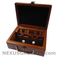 Aidendale Shut the Box Game with Vintage Design Wood Case