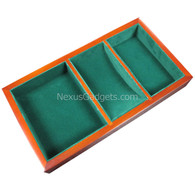 Wood Valet Tray with Green Felt