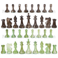 "Zemi Chess Pieces with Extra Queens - 3.7"" King - BOARD NOT INCLUDED"