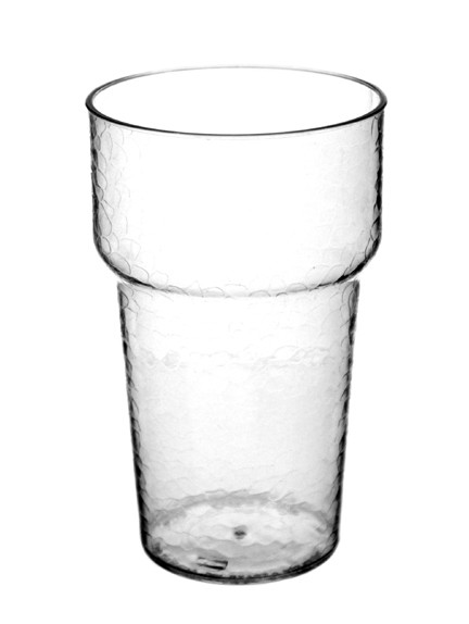 Textured Clear Plastic Beer Tasting Glass with 4oz. Pour Line.
