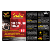 M86 Mirror Glaze¨ Soloª Cut & Polish Cream, Secondary Label