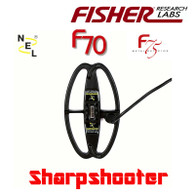 NEL 9.5 x 5.5 inch DD Sharpshooter Coils for Fisher F70/F75