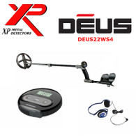 """XP DEUS With WS4 Display + 9"""" Search Coil + FX-02 Wired Backphone Heaphones"""