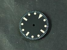 Plain Milsub Watch Dial for ETA 2836 / 2824 Movement Yellow Lume