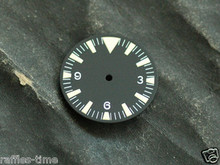 Plain Seamaster 300 Dial for ETA 2824 2836 Movement Triangle@12 Yellow Lume