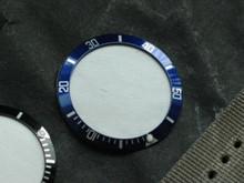 Submariner Style Blue White Bezel Insert