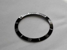 Submariner 5512 5513-2 1665 1680 Black / Silver Bezel Insert to fit Rolex