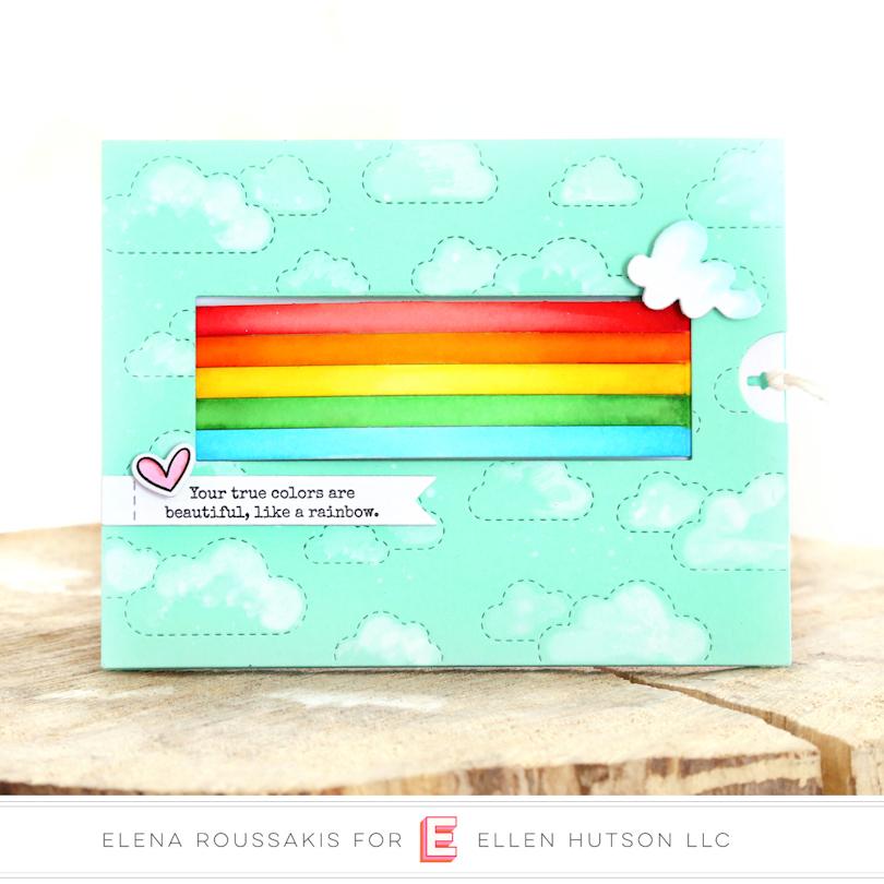 Rainbow Slider Card by Elena
