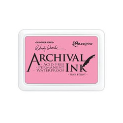 Ranger Archival Ink Pad, Pink Peony By Wendy Vecchi -