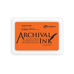 Ranger Archival Ink Pad, Tiger Lily By Wendy Vecchi -
