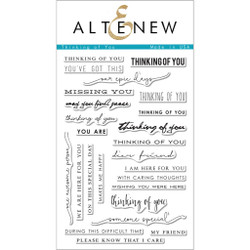 Altenew Clear Stamps, Thinking of You -