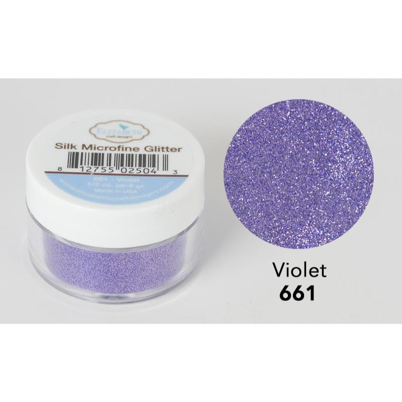 Elizabeth Craft Designs Silk Microfine Glitter Violet Ellen