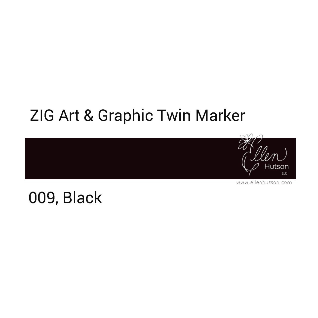 Zig Art & Graphic Twin Tip Marker, Black - 847340015635