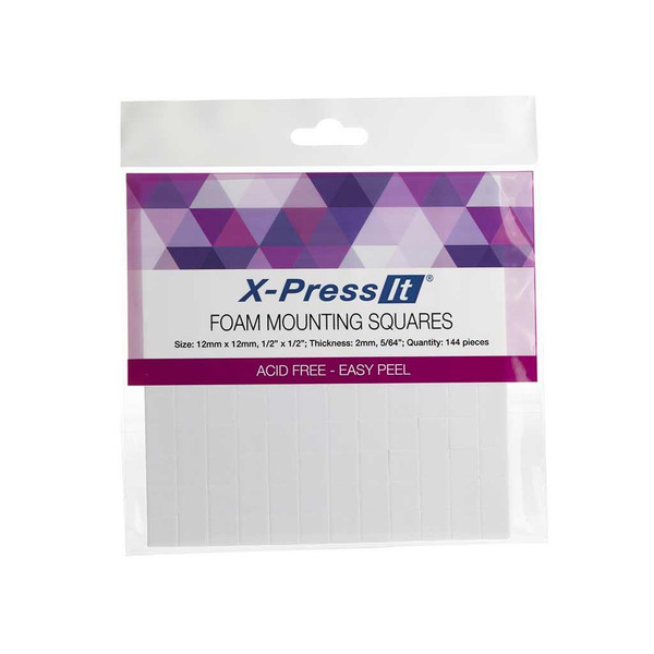 X-Press It Foam Mounting Squares, 1/2 x 1/2 -