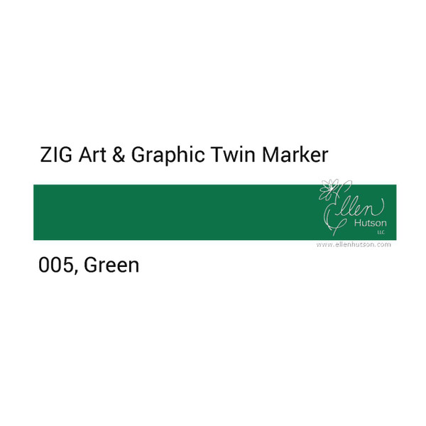 Zig Art & Graphic Twin Tip Marker, Green - 847340015604