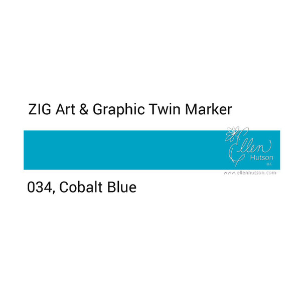Zig Art & Graphic Twin Tip Marker, Cobalt Blue - 847340015758