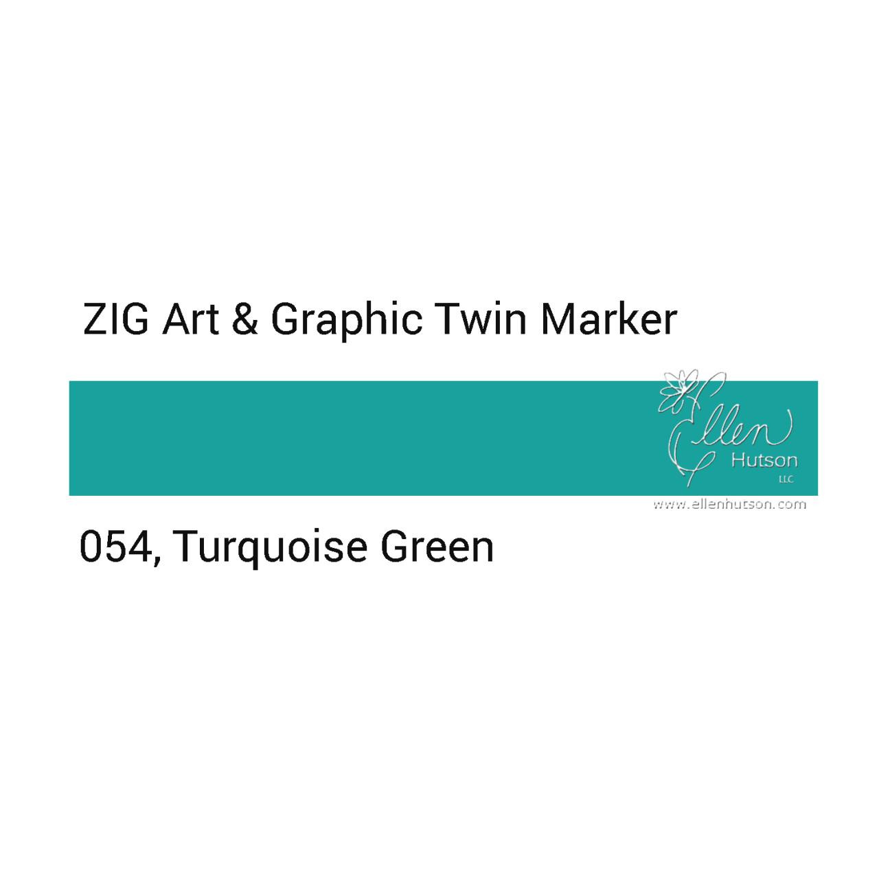Zig Art & Graphic Twin Tip Marker, Turquoise Green -