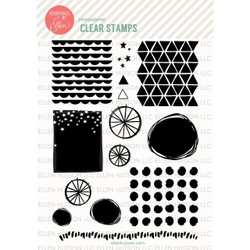 Essentials By Ellen Clear Stamps, Wonky Backdrops By Julie Ebersole -