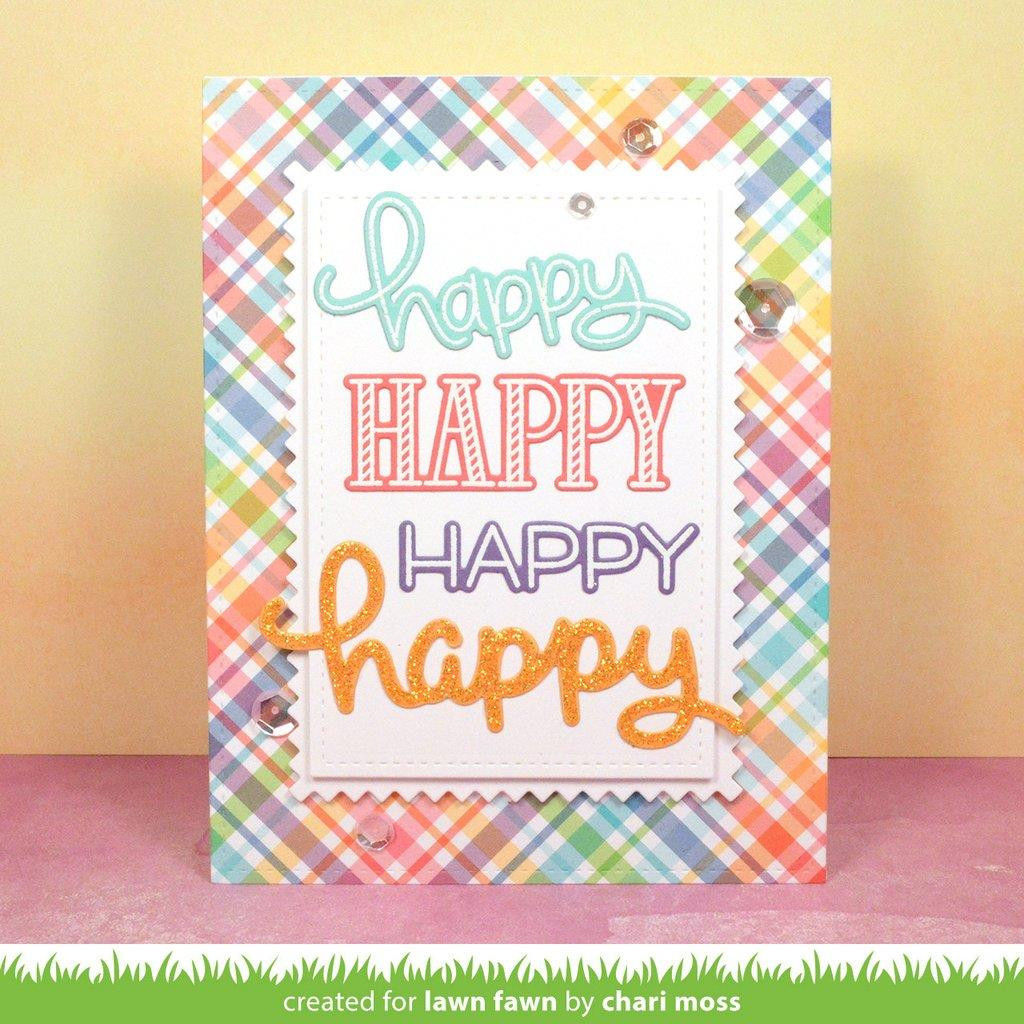 Lawn Fawn Clear Stamps, Happy Happy Happy -
