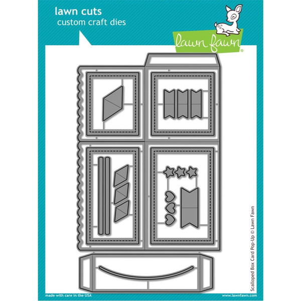 Lawn Cuts Dies, Scalloped Box Card Pop-Up -