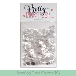Pretty Pink Posh Sequins, Sparkling Clear Confetti Mix -