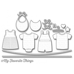 My Favorite Things Die-namics, Bundle of Baby Clothes by Laina Lamb Design - 849923016787