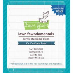 Lawn Fawn Clear Acrylic Block, 4 X 5 -