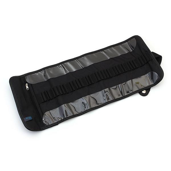 Global Art Materials, Canvas Pencil Roll Up Case, Black - 696844359369