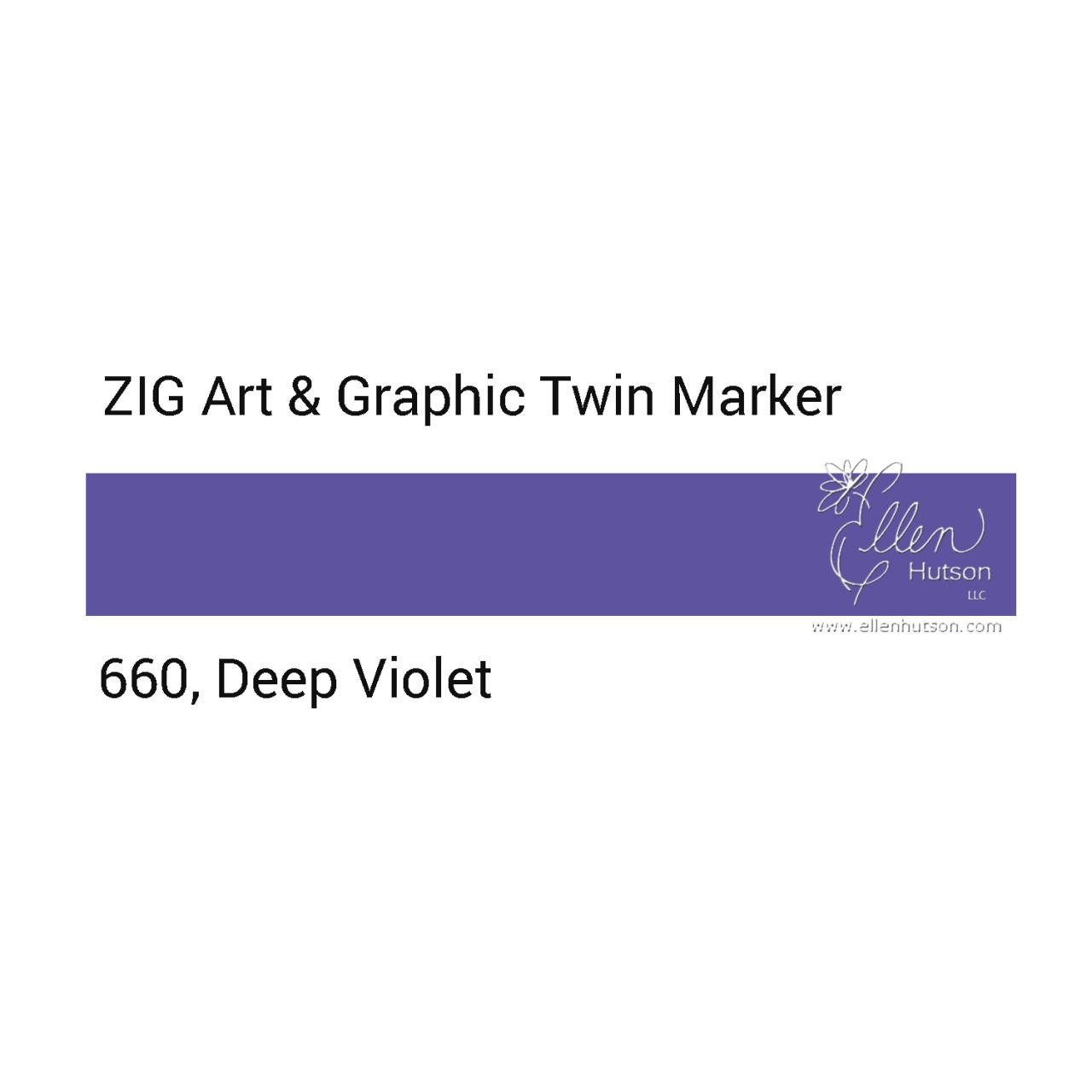 Zig Art & Graphic Twin Tip Marker, Deep Violet - 847340016281