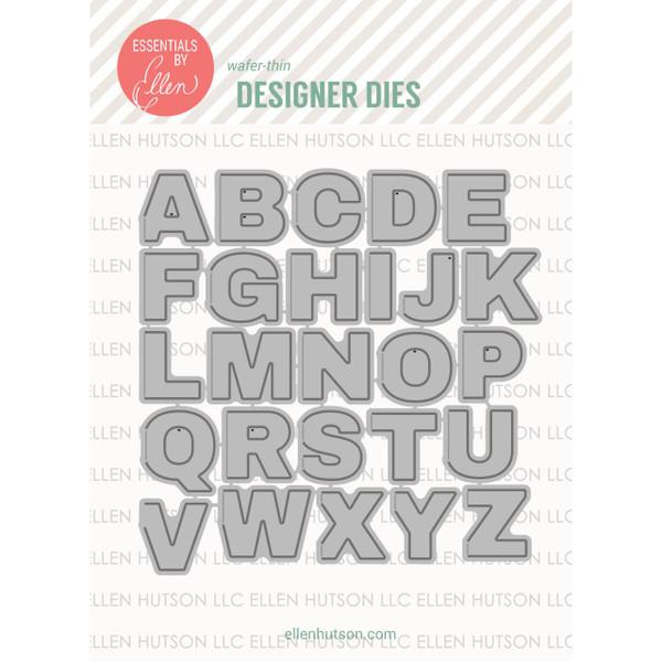 Essentials by Ellen Designer Dies, Hinged Alphabet by Julie Ebersole -