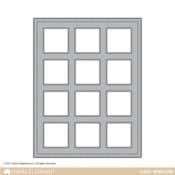 Mama Elephant Creative Cuts, Grid Window -