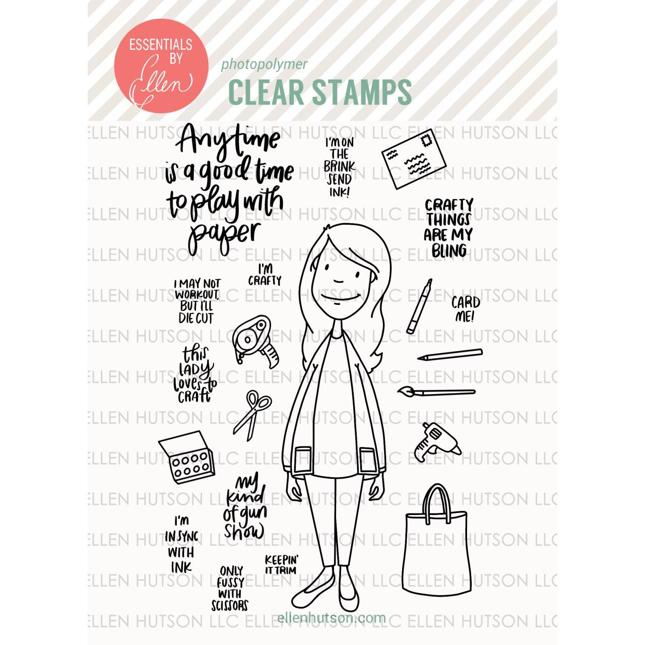 Essentials by Ellen Clear Stamps, Leading Ladies - Crafty Lady by Brandi Kincaid -