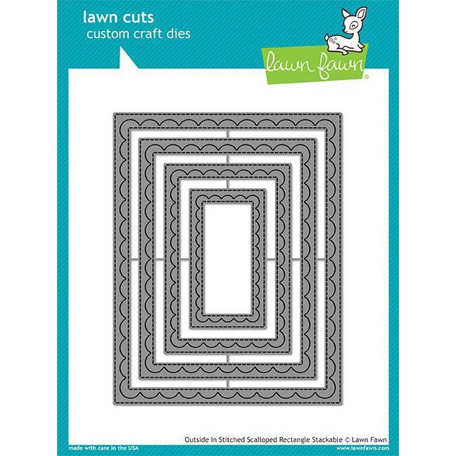 Lawn Cuts Dies, Outside In Stitched Scalloped Rectangle Stackables - 035292668683