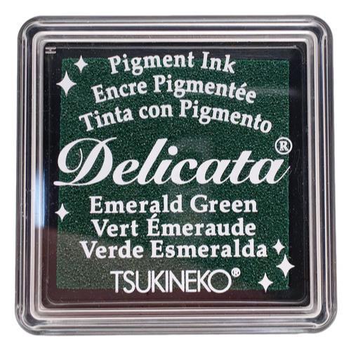 Delicata Small Ink Pad, Emerald Green -