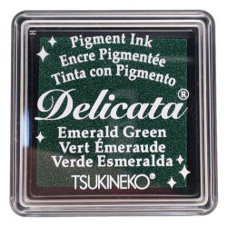 Delicata Small Ink Pad, Emerald Green -