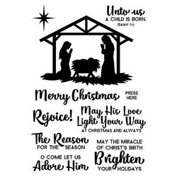 Art Gone Wild Clear Stamps, Nativity -