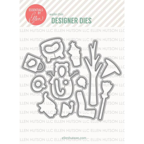 Essentials by Ellen Designer Dies, Bear Ware 2 by Julie Ebersole -